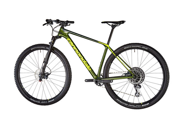 "Cannondale F-Si Carbon 3 29"" vulcan/green"