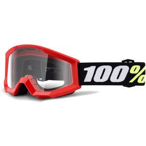 100% Strata Mini Anti Fog Clear Goggles Red bei fahrrad.de Online