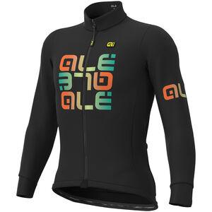 Alé Cycling Solid Mirror Winter Trikot Herren black black
