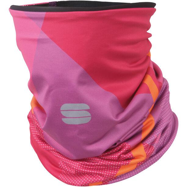 Sportful Neckwarmer Damen victorian/purple/bubble gum/orange sdr