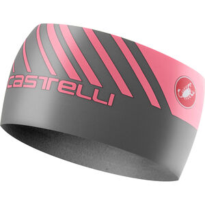 Castelli Arrivo 3 Thermo Headband dark gray/giro pink dark gray/giro pink