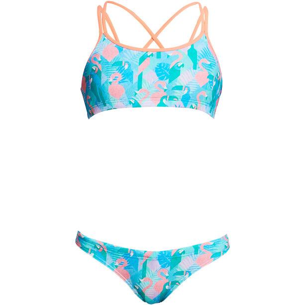 Funkita 2-Teiliger Criss Cross Bikini Mädchen pastel paradise