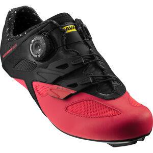 Mavic Sequence Elite Shoes pirate black/fiery coral/black