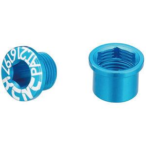 KCNC Road SPB003 Kettenblattschrauben Set Shimano M8 kurz blue blue