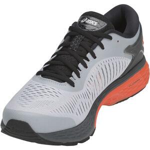 asics Gel-Kayano 25 Shoes Herren mid grey/red snapper mid grey/red snapper
