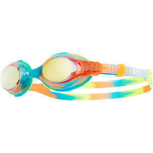 TYR Swimple Tie Dye Mirrored Goggles Kinder gold/turquoise gold/turquoise