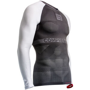 Compressport On/Off Multisport LS Shirt Unisex Grey/White bei fahrrad.de Online