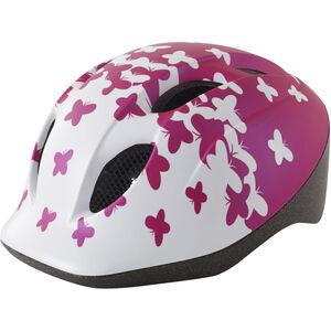 MET Super Buddy Kinderhelm pink butterflies