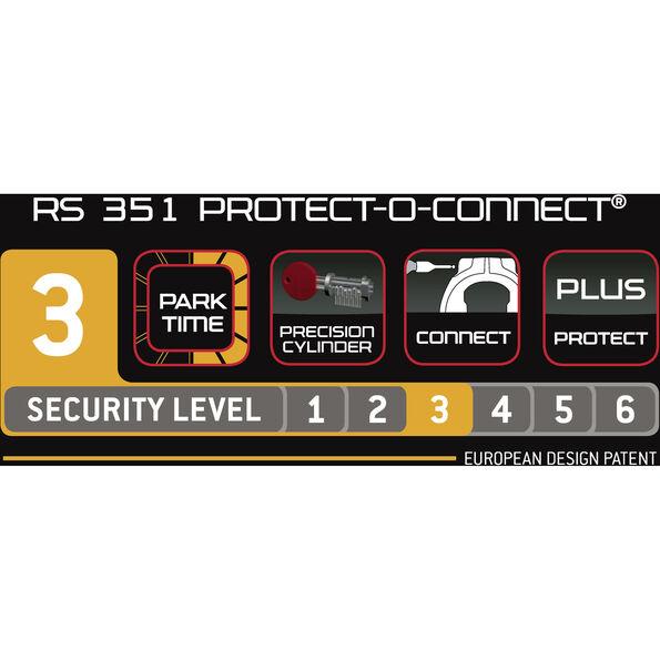 Trelock RS 351 Protect-O-Connect Rahmenschloss AZ ZR 20 schwarz