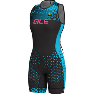 Alé Cycling Triathlon Rush Olympic Sleeveless Unitard Damen black-light blue black-light blue