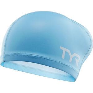 TYR Comfort Long Hair Silicone Cap Kinder light blue light blue