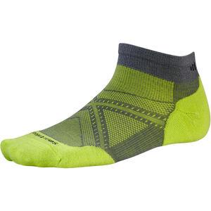 Smartwool PhD Run Light Elite Low Cut Socks graphite/smartwool green graphite/smartwool green