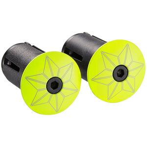 Supacaz Star Plugz Lenkerendkappen neon gelb-pulverbeschichtet neon gelb-pulverbeschichtet