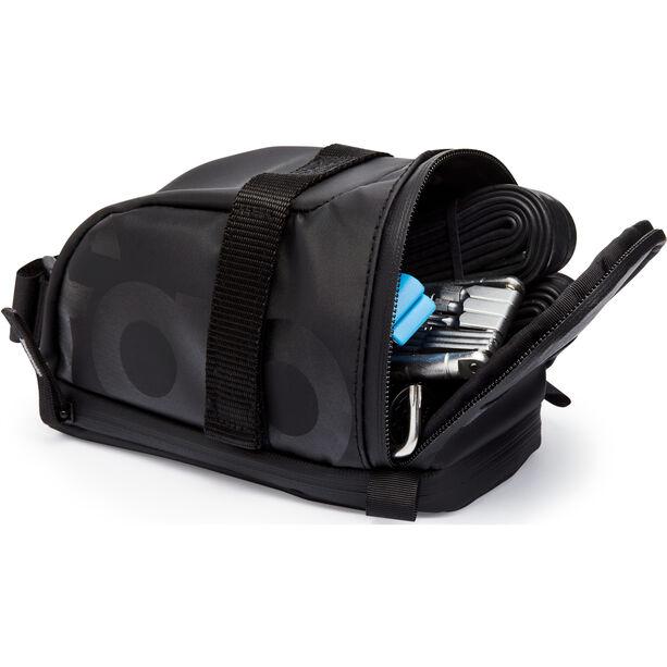 Fabric Contain Saddle Bag L black