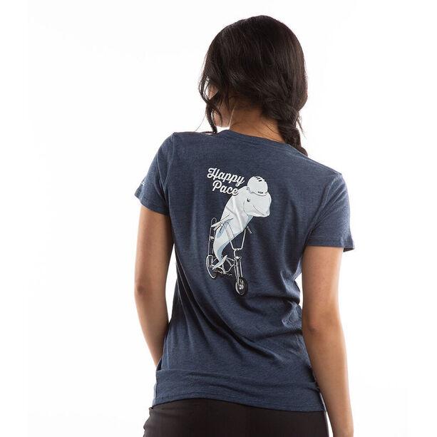 PEARL iZUMi Graphic Kurzarm T-Shirt Damen heather dusk happy pace