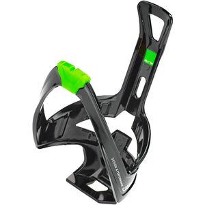 Elite Cannibal XC Flaschenhalter schwarz glänzend/grüne Grafik