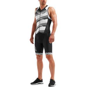 2XU Compression Full-Zip Trisuit Herren black/black white lines black/black white lines