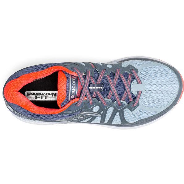 saucony Echelon 6 Shoes Women Fog/Grey/Vizipro Red