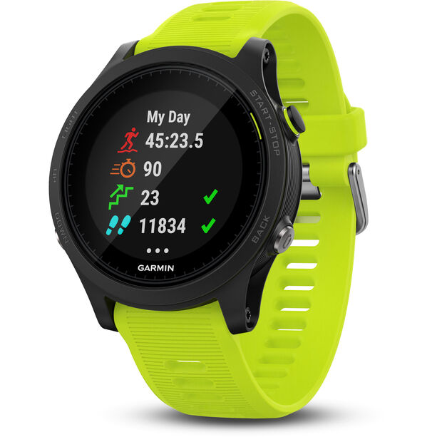 Garmin Forerunner 935 GPS Triathlon Uhr Bundle black/yellow