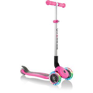 Globber Primo Foldable Lights Roller mit Batterielosen LED Rollen Kinder pink pink