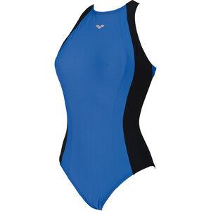 arena Agate Embrace Back One Piece Swimsuit Damen black-bright blue black-bright blue
