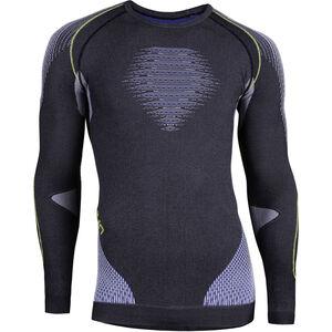 UYN Evolutyon Melange UW LS Shirt Herren anthracite melange/blue/yellow shiny anthracite melange/blue/yellow shiny