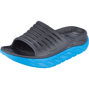 Hoka One One Ora Recovery Slide Sandalen Damen ebony/dresden blue ebony/dresden blue