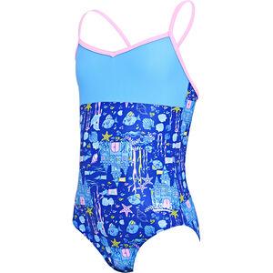 Zoggs Undersea V Back Swimsuit Mädchen blue/multi blue/multi