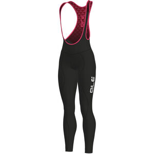 Alé Cycling Solid Winter Bib Tights Damen black-fluo pink black-fluo pink