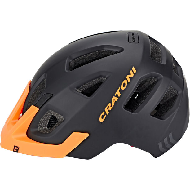 Cratoni Maxster Pro Helmet Kinder black-orange matt
