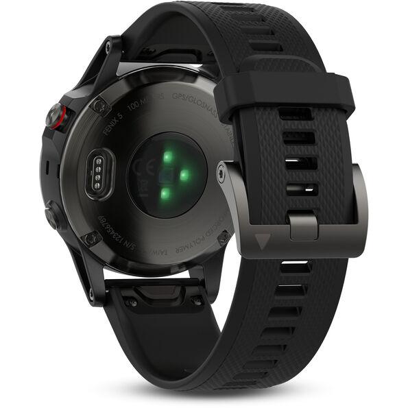 Garmin fenix 5 GPS Multisportuhr mit schwarzem Armband