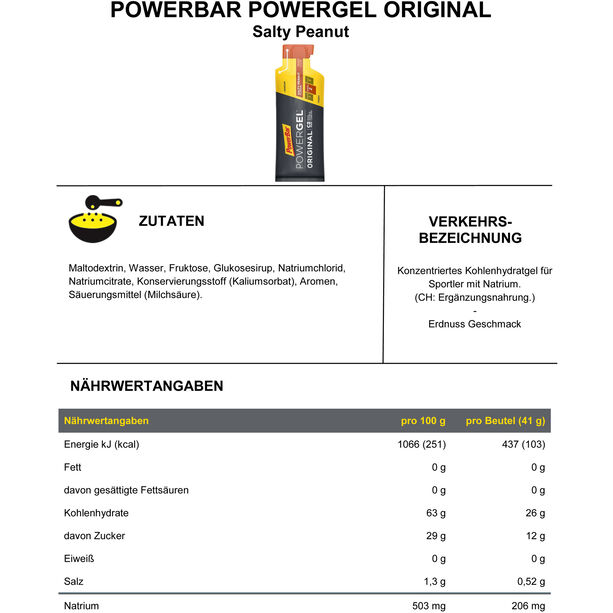 PowerBar PowerGel Original Box 24x41g Salty Peanut