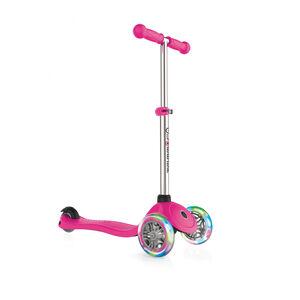 Globber Primo Lights Roller mit Batterielosen LED Rollen Kinder pink pink