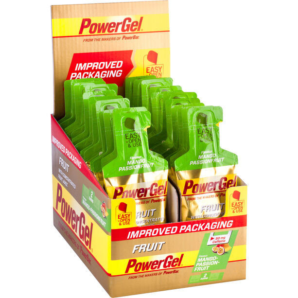 PowerBar New PowerGel Fruit Box 24x41g Mango Passionfruit mit Koffein