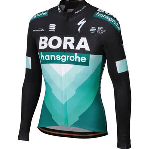 Sportful Team Bora-HG Bodyfit Pro Thermal LS Jersey Herren black-green black-green