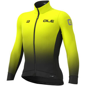Alé Cycling PRS Dots DWR Longsleeve Jersey Herren black-yellow fluo black-yellow fluo