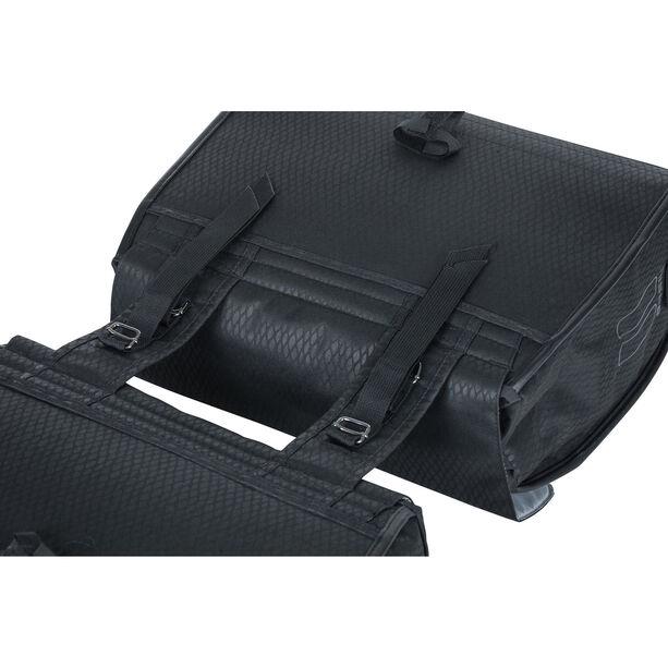 Basil Noir Doppel-Gepäckträgertasche 38l midnight black