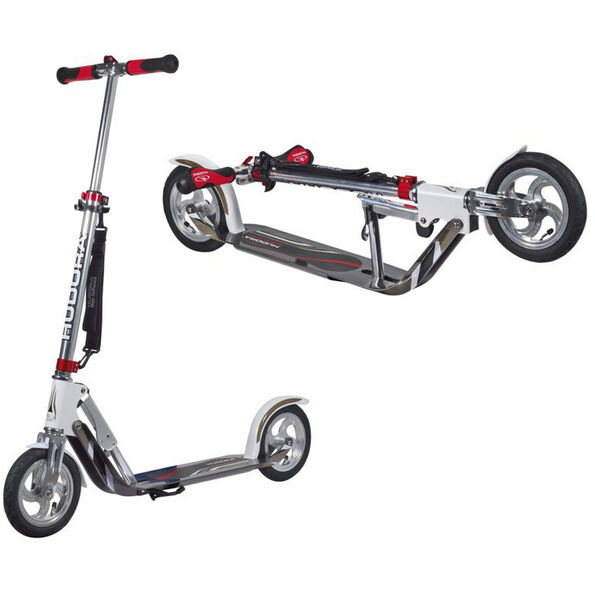 HUDORA Big Wheel Air City Scooter Kinder weiß/silber