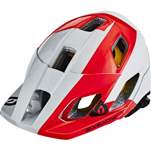SixSixOne EVO AM MIPS Helm white/red/grey white/red/grey