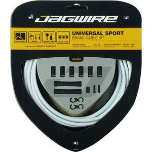 Jagwire Sport Universal Bremszugset für Shimano/SRAM weiß weiß