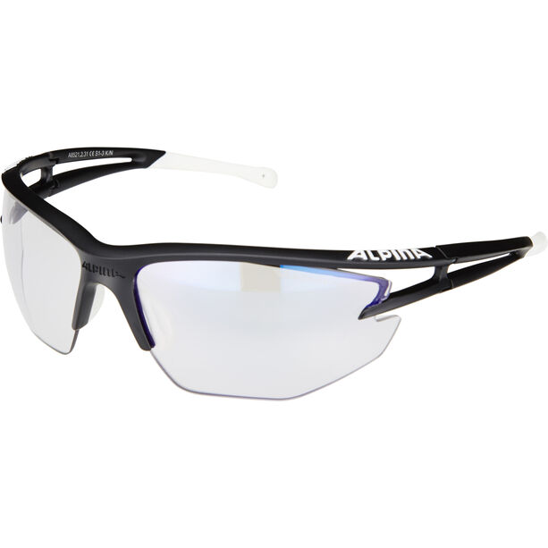 Alpina Eye-5 HR VLM+ Brille black matt-white-black/blue mirror