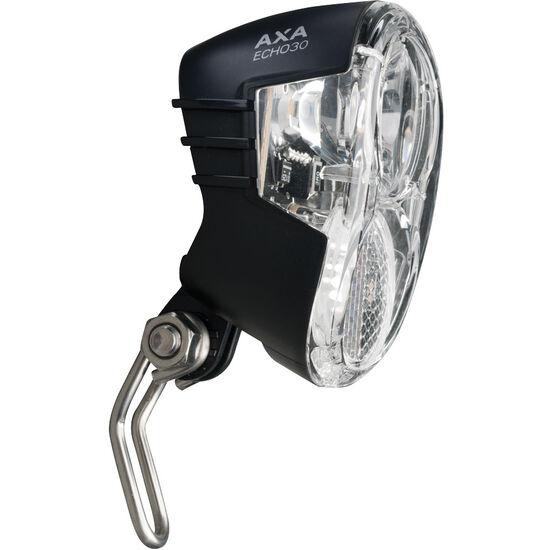 Axa Echo 30 Scheinwerfer für Nabendynamo mit Halter und Kabel schwarz bei fahrrad.de Online