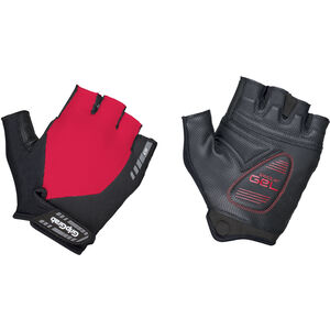 GripGrab ProGel Short Finger Padded Gloves red