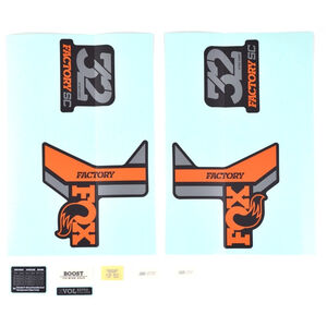 Fox Racing Shox Aufkleber-Set für 32 SC F-S orange/black/matte black orange/black/matte black