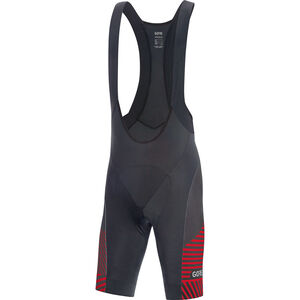 GORE WEAR C3 Bib Shorts Herren black/red black/red