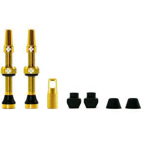 Muc-Off MTB & Road Tubeless Valve Kit 60mm gold gold
