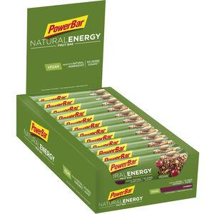 PowerBar Natural Energy Fruit Bar Box Cranberry 24 x 40g