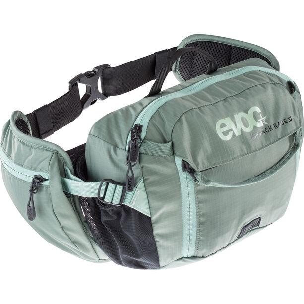 EVOC Hip Pack Race Backpack 3 L + Hydration Bladder 1,5 L olive-light petrol