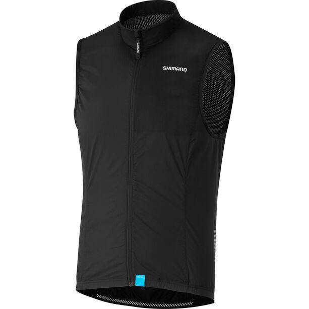Shimano Compact Wind Vest Herren black