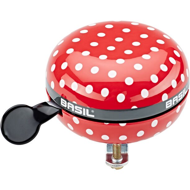 Basil Big Polkadot Bell 80mm Ø red/white dots
